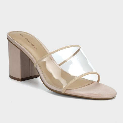 9779ca8ef78 Women s Danielle Vinyl Heeled Mules - Who What Wear™ Taupe 6   Target