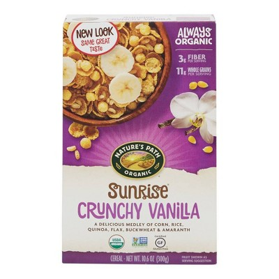 Nature's Path Gluten Free Crunchy Vanilla Breakfast Cereal - 10.6oz