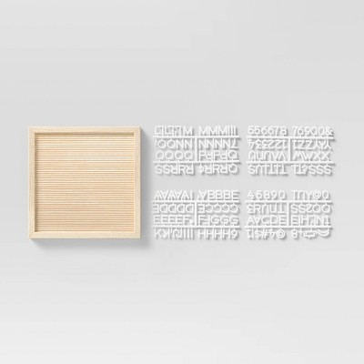 """12"""" x 12"""" Letter Board with Letters Faux Wood - Room Essentials™"""