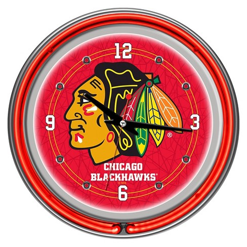 Chicago Blackhawks Neon Wall Clock - image 1 of 1