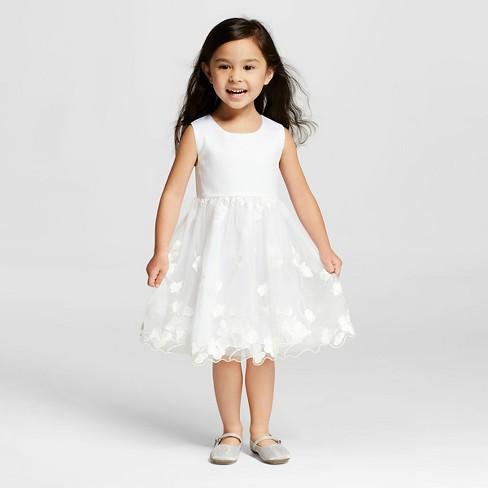 Miss Treasures Toddler Girls Lace Flower Girl Dress White 4t Target