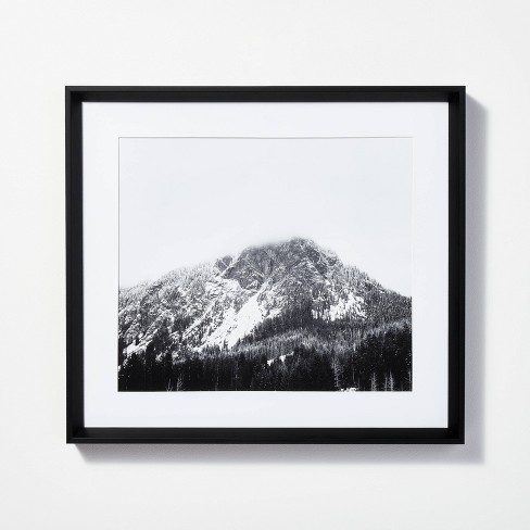 """20"""" x 18"""" Majestic Mountain Framed Wall Art Black - Threshold™ designed with Studio McGee - image 1 of 4"""