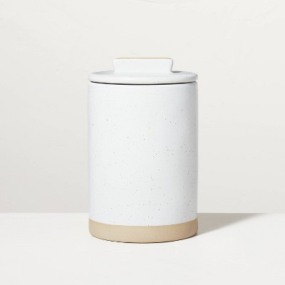 Medium Speckled Matte Stoneware Canister Sour Cream/Tan - Hearth & Hand™ with Magnolia