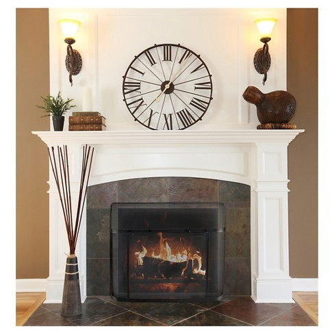 Pleasant Hearth Fireplace Screen Guard Black Target