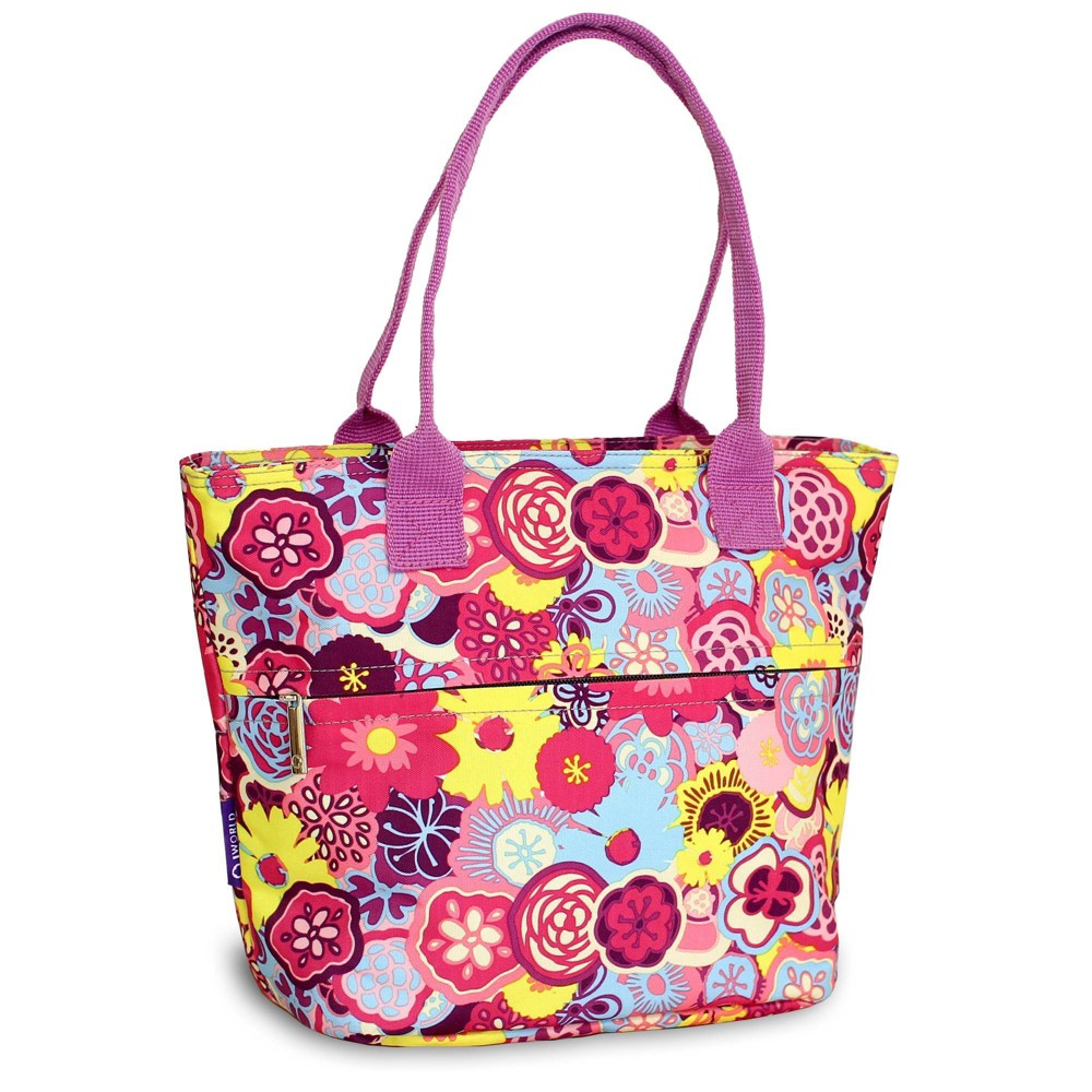 J World Lola Lunch Tote With Back Pocket Poppy Pansy