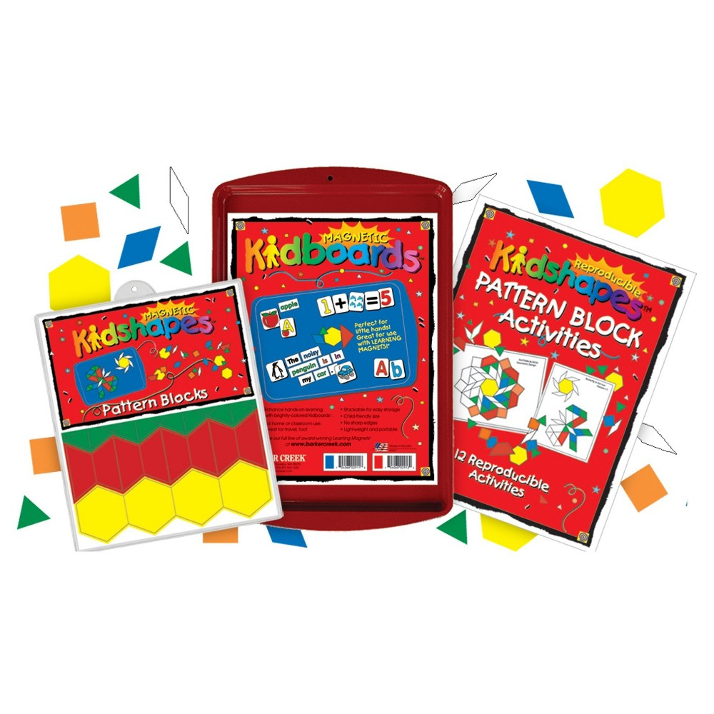 Image of Barker Creek KidBoards Magnets - Pattern Block Activity Set