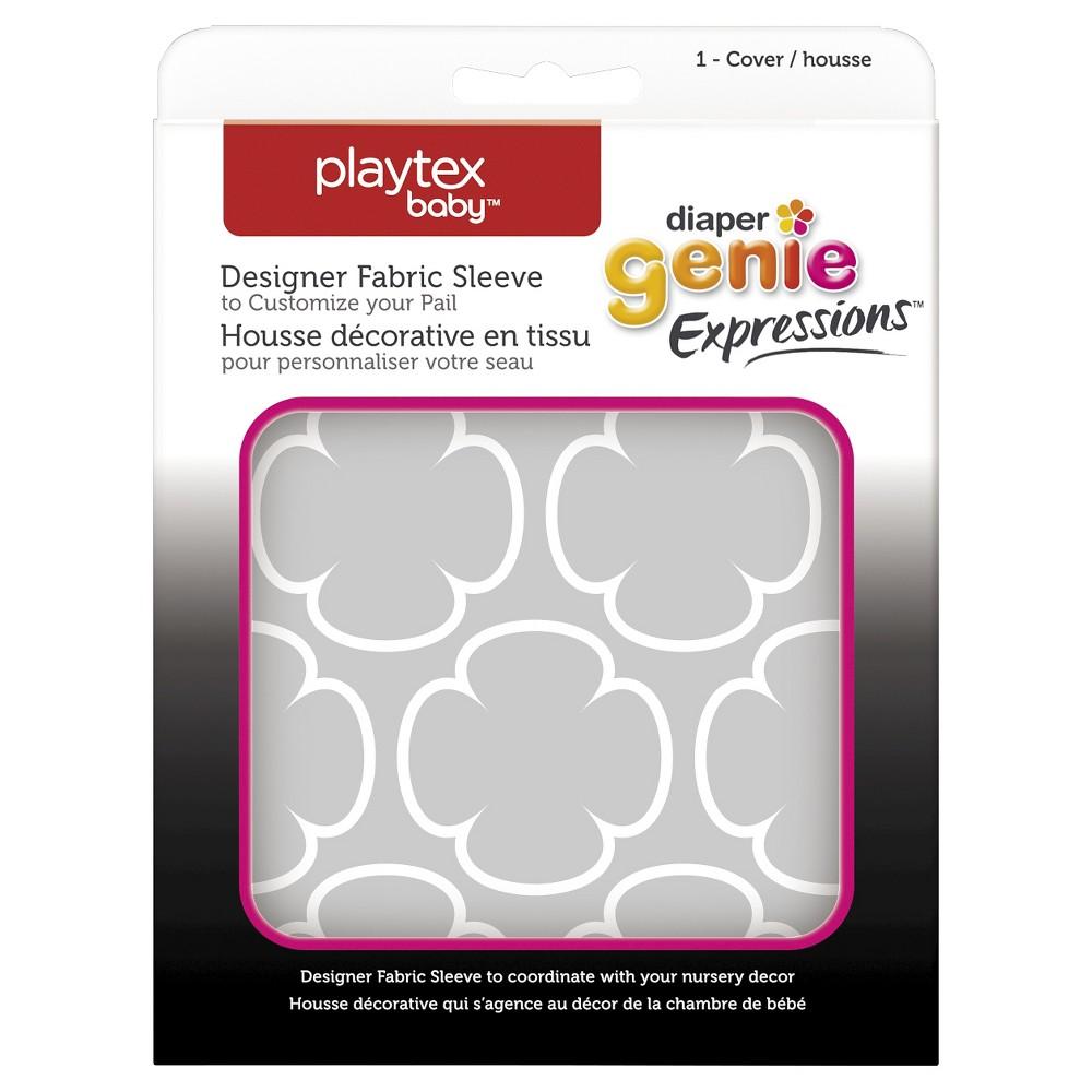 Diaper Genie Fabric Cover - Gray Clovers