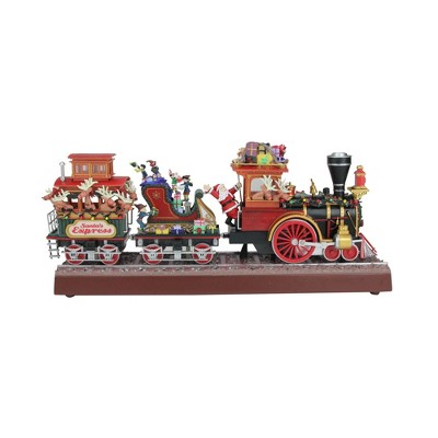 Mr. Christmas Red and Brown Animated Musical Lighted Santa's Express Decoration