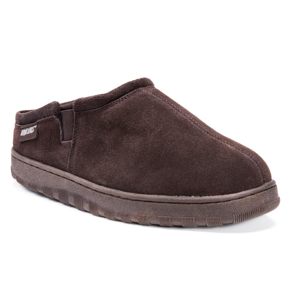 Image of Men's MUK LUKS Berber Suede Clog Slippers - Brown 11, Men's