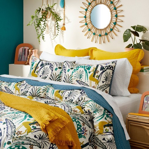 Jungle Print Comforter & Sham Set - Opalhouse™ designed with Jungalow™ - image 1 of 4