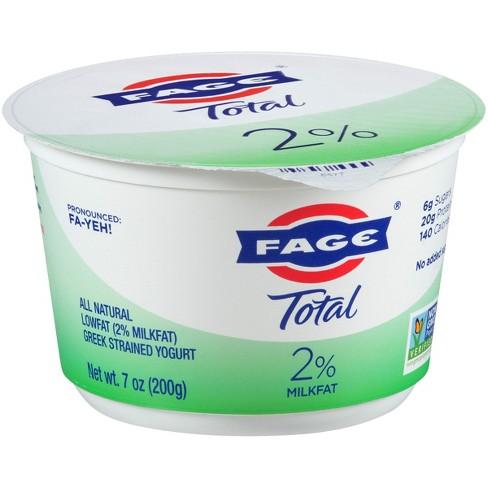 FAGE Total 2% Milkfat Plain Greek Yogurt - 7oz - image 1 of 1