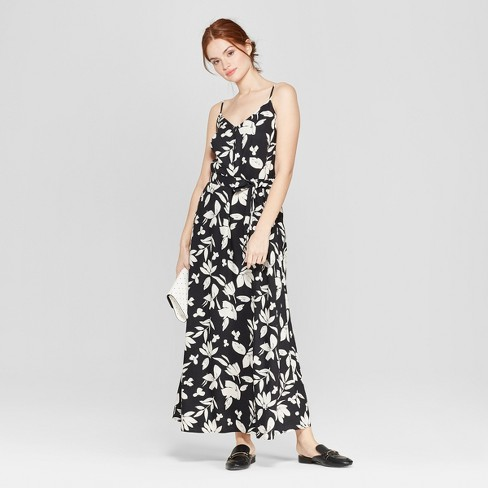 93e3768f4fa1 Women s Floral Print Sleeveless Maxi Dress - A New Day™ Black   Target