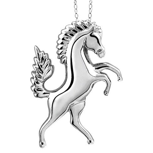 Womens sterling silver horse pendant 18 target womens sterling silver horse pendant 18 aloadofball Images