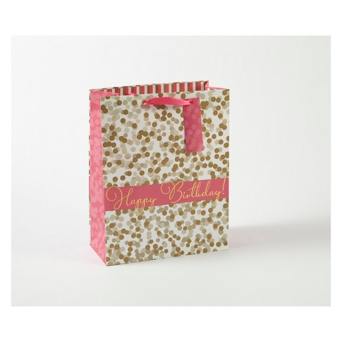 Small Dots Happy Birthday Gift Bag - Spritz™ - image 1 of 1