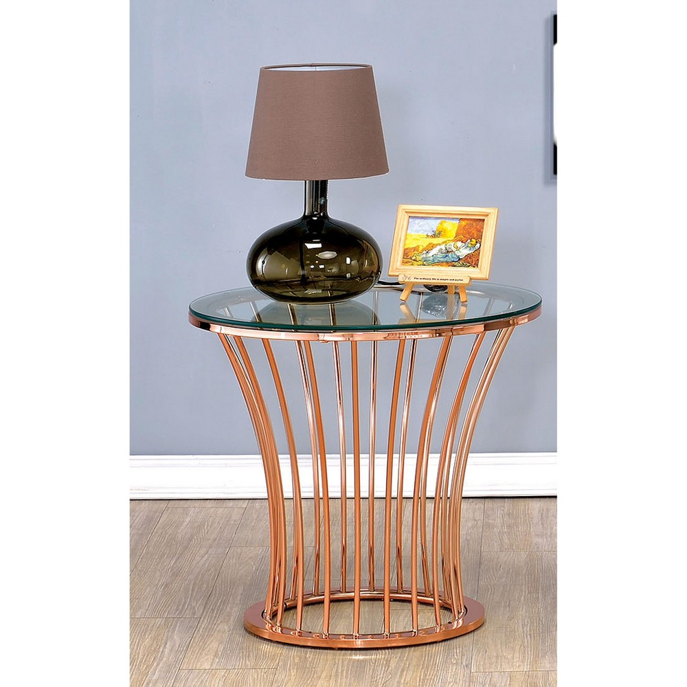 ioHomes End Table Copper Bangle