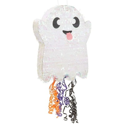 Spooky Central Small Ghost Pinata for Halloween Party (13 x 16.5 x 3 In)