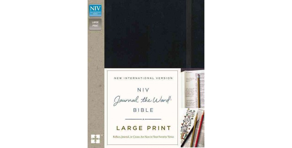 NIV Journal the Word Bible : New International Version, Black (Large Print) (Hardcover)
