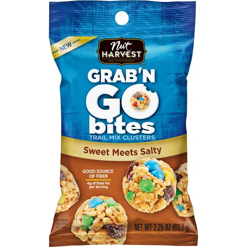 Nut Harvest Sweet Meets Salty grab'N Go Trail Mix Clusters Bites - 2.25oz - image 1 of 2