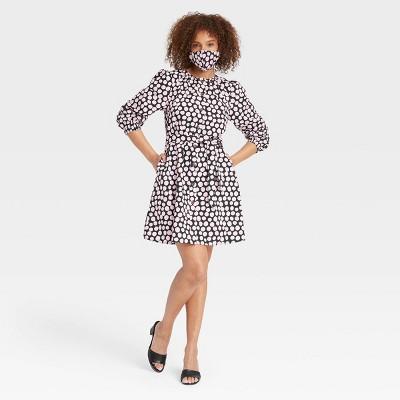 Women's Puff 3/4 Sleeve Shirtdress - Who What Wear™