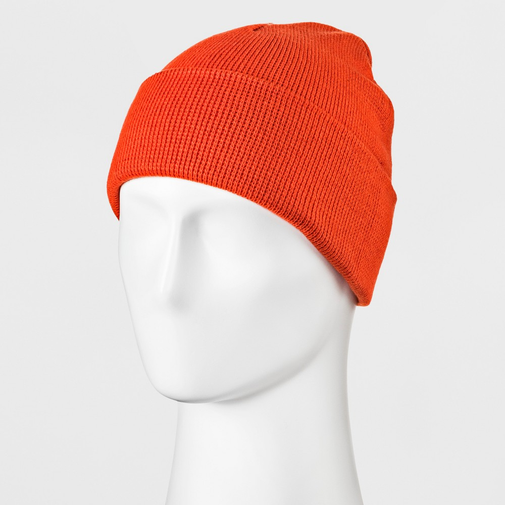 Men's Knit Cuff Beanie - Goodfellow & Co Rust (Red) One Size