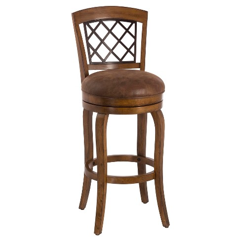 "Ericsson Swivel 30"" Barstool Wood/Distressed Light Pine - Hillsdale Furniture - image 1 of 1"