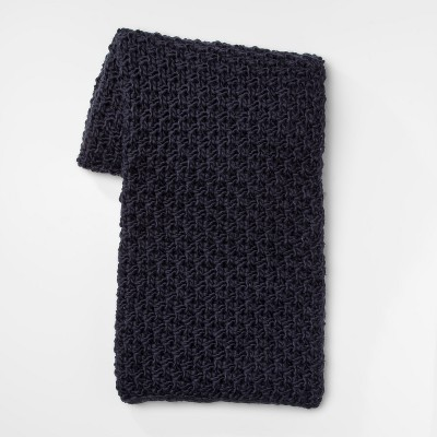 60 x50  Chunky Knit Throw Blanket Navy - Threshold™