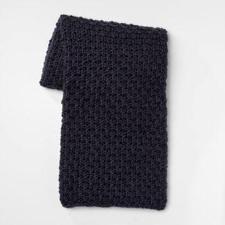 "60""x50"" Chunky Knit Throw Blanket Navy - Threshold™"
