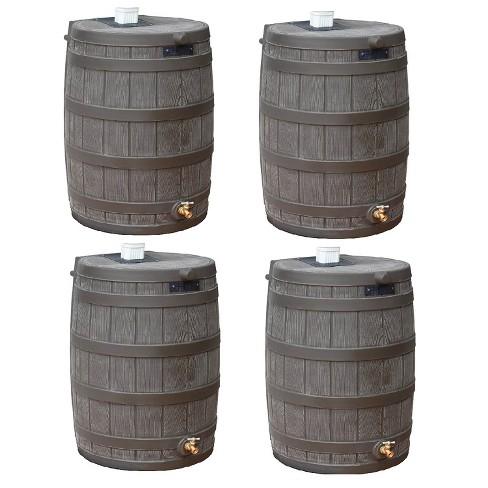 Good Ideas Rain Wizard 50 Gallon Plastic Rain Barrel with Brass Spigot (4 Pack) - image 1 of 4