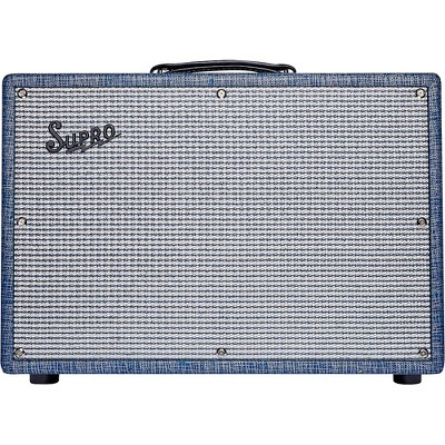 Supro 1968RK Keeley 12 25W 1x12 Tube Guitar Combo Amp Blue
