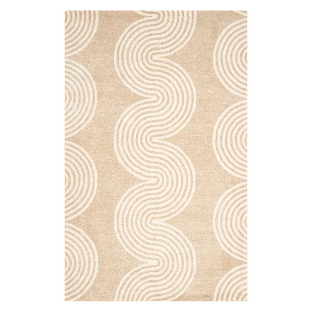 5'X8' Wave Tufted Area Rug Beige/Ivory - Safavieh