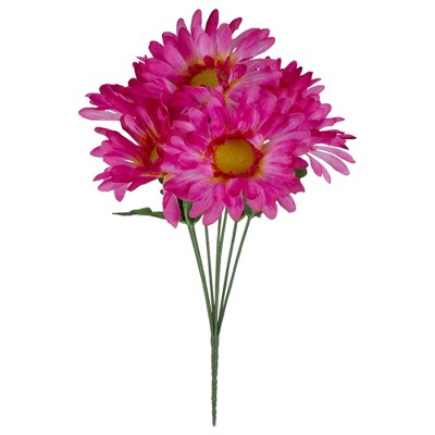 """Allstate Floral 13"""" Pink and Green Artificial Daisy Bouquet"""