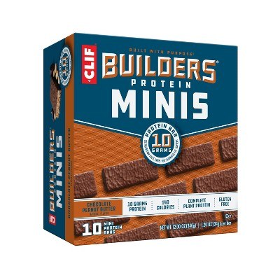 CLIF Builder's Chocolate Peanut Butter Mini Bars - 10pk