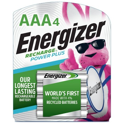 Energizer 4pk Recharge Power Plus Rechargeable AAA Batteries