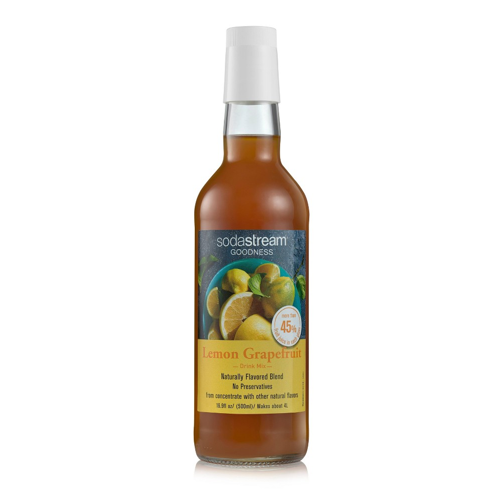 Image of SodaStream 16.9oz Goodness Lemon Grapefruit Drink Mix