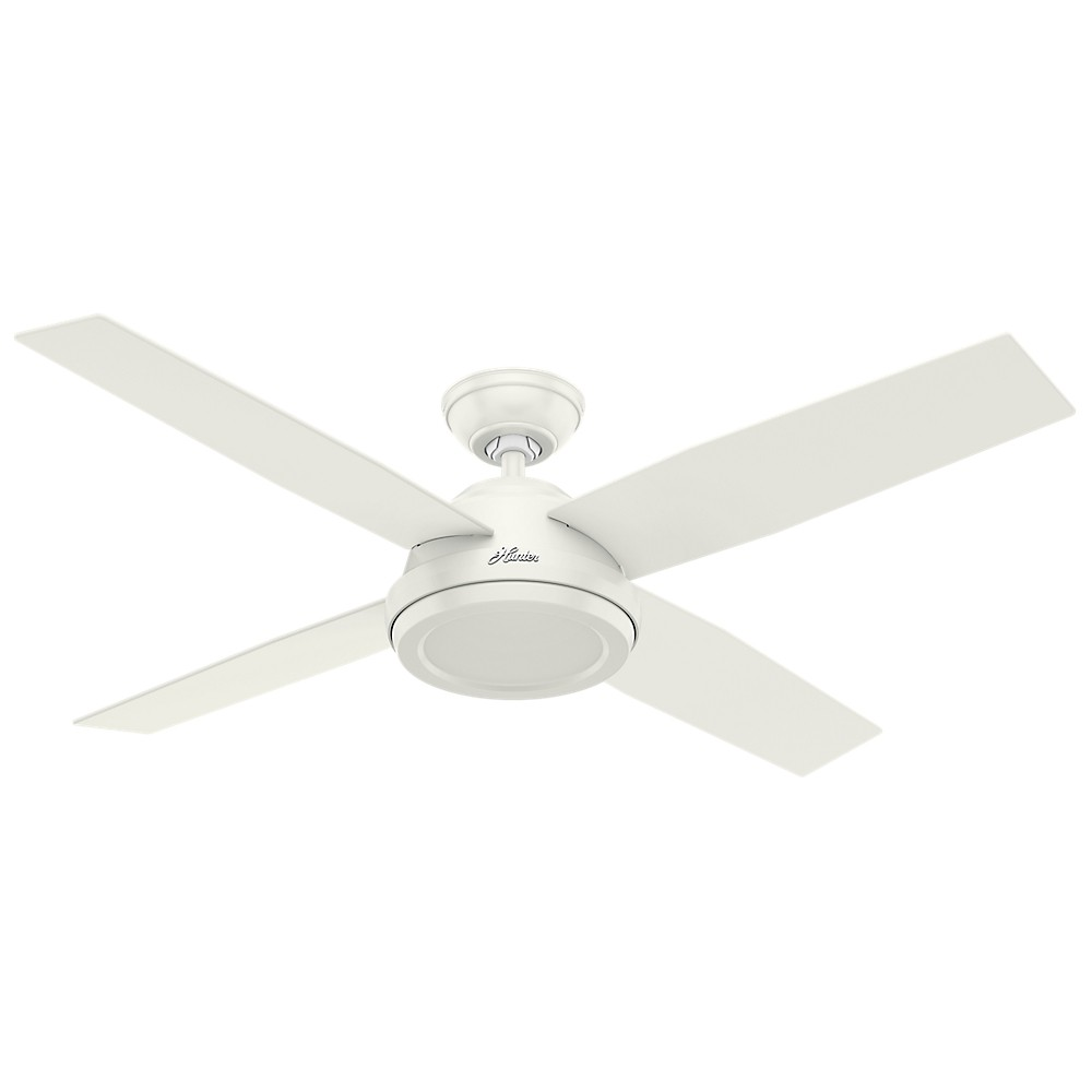 52 Dempsey Fresh White Ceiling Fan with Handheld Remote - Hunter Fan