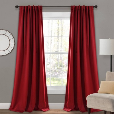 Insulated Back Tab Blackout Window Curtain Panels Set - Lush Décor