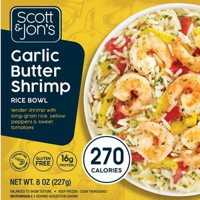 Scott & Jon's Garlic Butter Shrimp Frozen Rice Bowl - 8oz