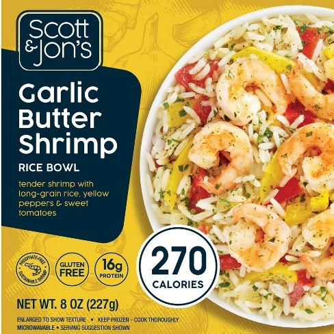 Scott & Jon's Gluten Free Frozen Garlic Butter Shrimp Rice Bowl - 8oz - image 1 of 3