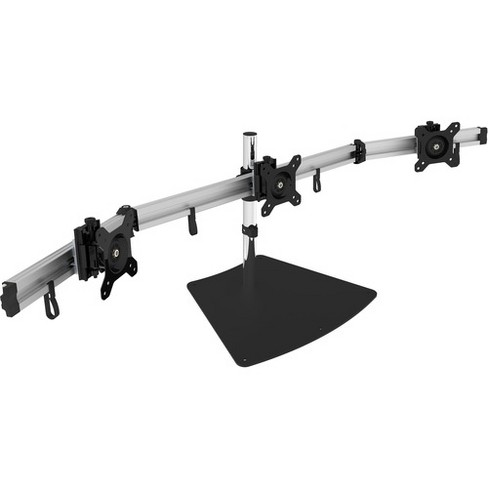 """SIIG Easy-Adjust Triple Monitor Desk Stand - 13"""" to 27"""" - Up to 27"""" Screen Support - 52.80 lb Load Capacity - 17.8"""" Height x 61.2"""" Width x 12.9"""" Depth - image 1 of 4"""