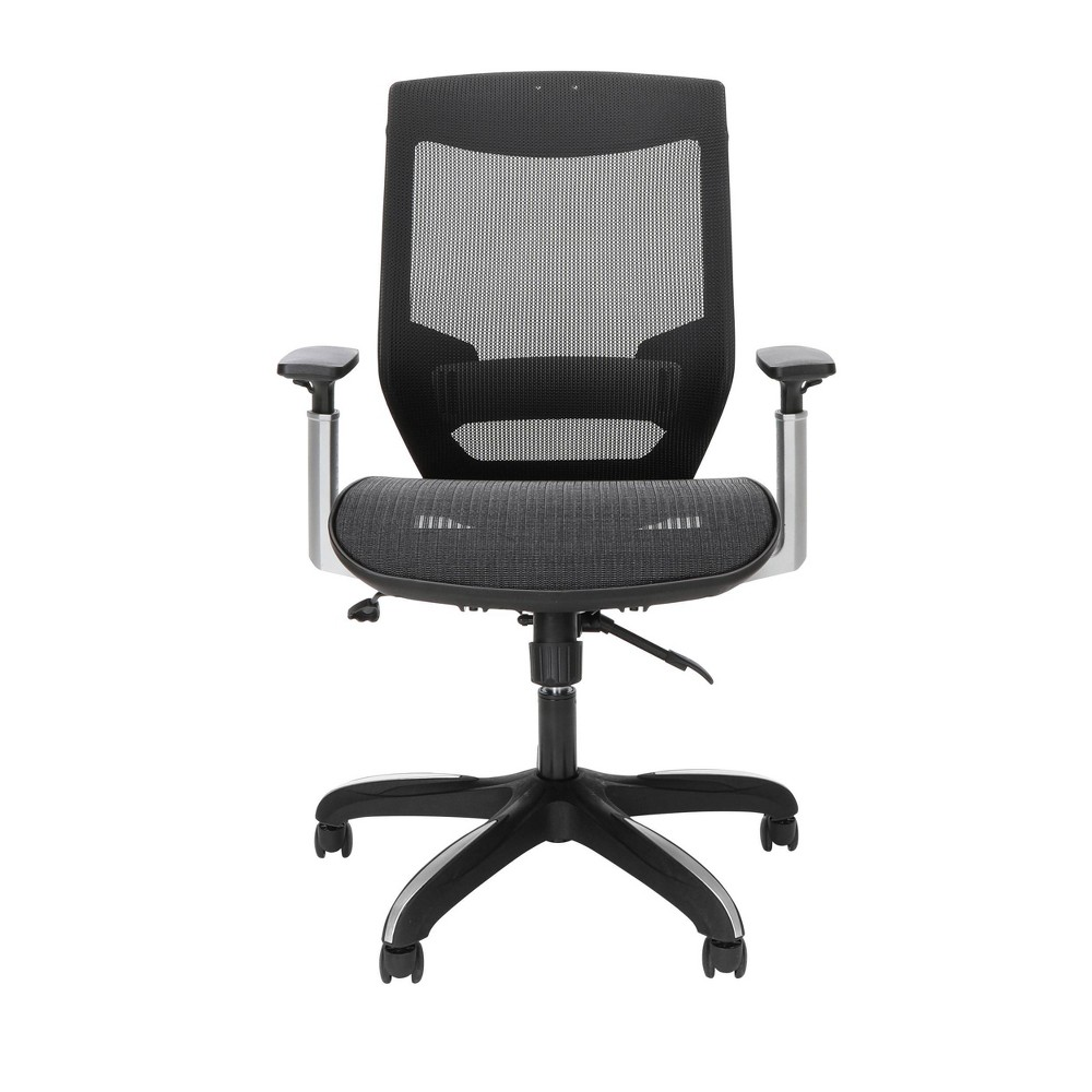 Discounts Full Mesh Office Chair with Headrest and Lumbar Support Black - OFM