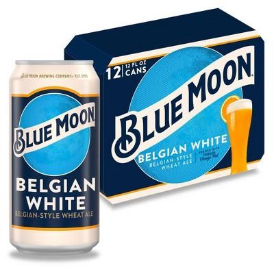 Blue Moon Belgian White Wheat Ale Beer - 12pk/12 fl oz Cans