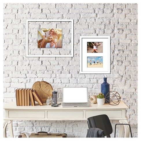 Multiple Image Frame 5X7 White Beveled Mat - Room Essentials™ - image 1 of 4