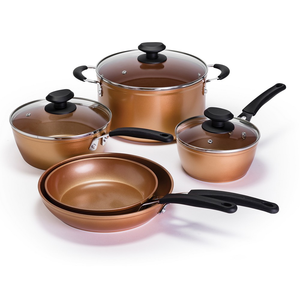 Image of Ecolution 8pc Endure Titanium Guard Cookware Set