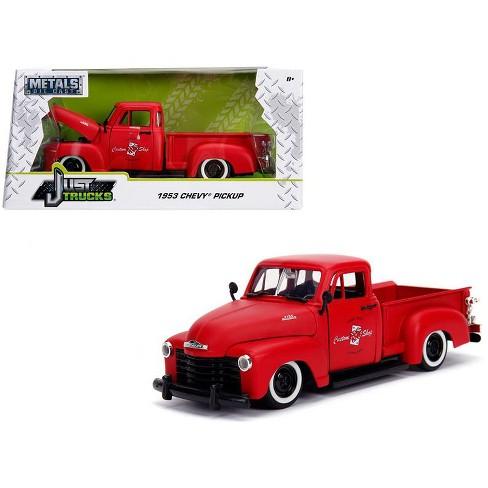 Chevy Las Vegas >> 1953 Chevrolet 3100 Pickup Truck Matt Red Custom Shop Classic Truck Las Vegas Nevada 1 24 Diecast Car By Jada