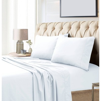 King 800 Thread Count Extra Deep Pocket Sateen Sheet Set White - Tribeca Living