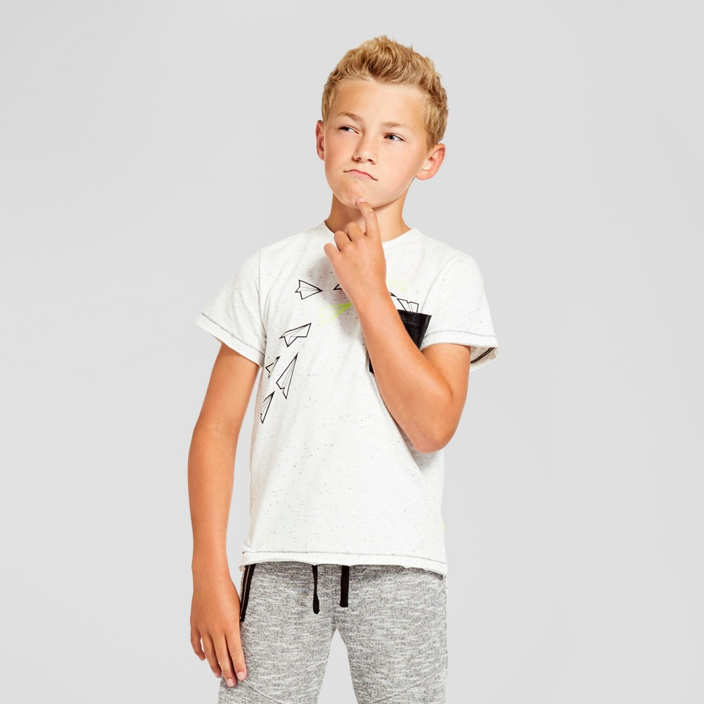 Kind is Cool Boys' Airplane T-Shirt White - XS