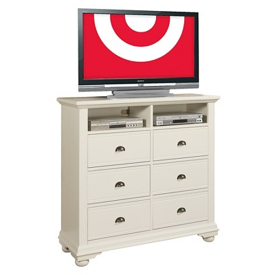 Aiden Cottage 6-Drawer Media Chest White - Picket House Furnishings