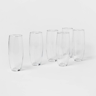 9oz 6pk Glass Stemless Champagne Flutes - Made By Design™