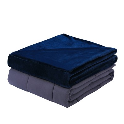 """48"""" x 72"""" 15lbs Plush Weighted Blanket with Removable Cover - DreamLab"""