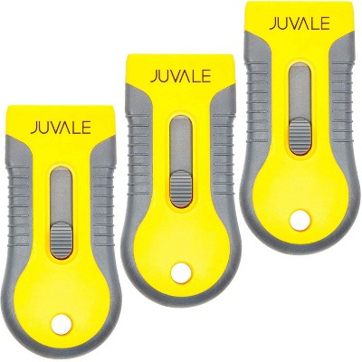 Juvale 3 Pack Razor Blade Scraper Tool with 30 Blades (4.2 x 2 inches)